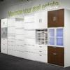 Configure cabinets by drawer size required and location.
