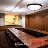 Draper screens can be mounted in the ceiling.  No meeting or boardroom should be without a well-designed system to communicate.  Walls and furniture must be coordinated in the plan.